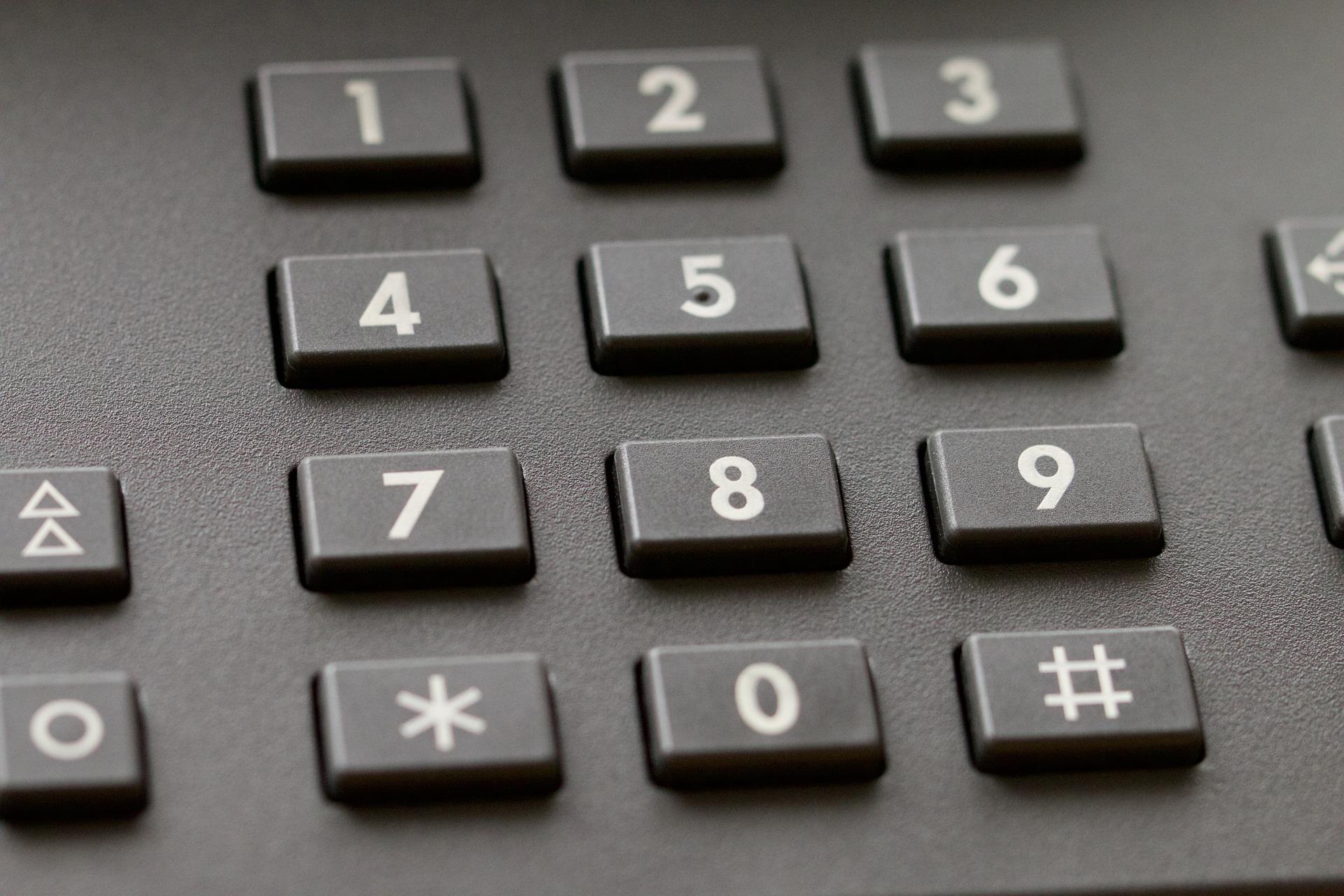 Tasten eines Telefon